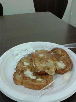 French Toast with whip cream  by PrettyShadowj28