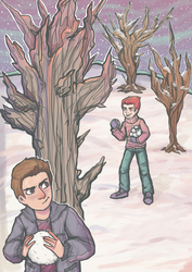 Paranatural - Snow fight! by Lavender-Dreamer