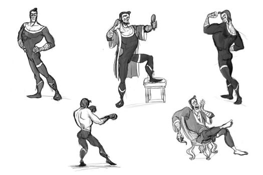Captain Fisticuffs pose outs by KimBeee