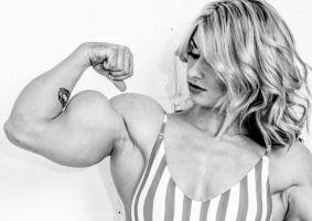 Blonde with Bulging Biceps by Turbo99