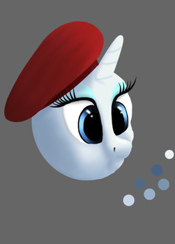 Rarity Art Critic (Unfinished) by My-Brony-Side