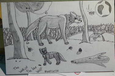 Lone Wolves Walk by WolfCat100
