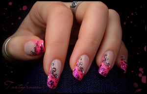 pink french manicure by Tartofraises