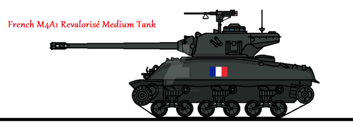 French M4A1 Revalorise Medium Tank by thesketchydude13