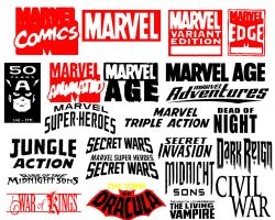 Marvel Comic Shapes pt1 by Geekbot71