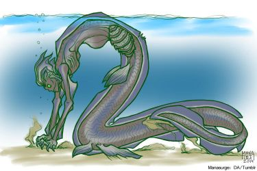 Frilled Shark Mermaid by Manasurge