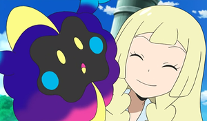 Lillie nicknames Cosmog, Nebby by WillDynamo55