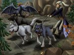 Taking Rondo for a Walk by JeMiChi