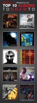 Macklin's Top 10 albums To Draw To by mmacklin