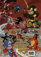 Les Petits Avengers/ Little Avengers : CIVIL WAR by Chris-Yop-Lannes
