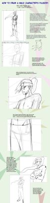 How to draw a male character? by Lairam