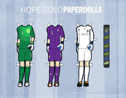 Hope Solo Paper Dolls Expansion Pack by hercircumstance