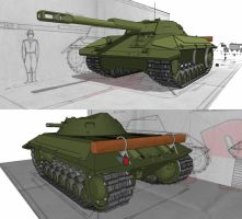 Russian Light tank destroyer by Giganaut