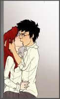 Lily and James - kiss by Nanamy