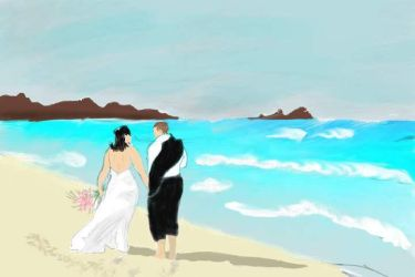 Beach Wedding by CrystalRose331