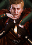 Cullen and Lavellan by Lynxina