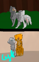 Cinderpelt and Cinderheart by Cynderflame156