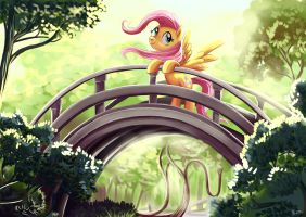 Fluttershy at the Golden Gate Park- Kallisti4 by Adlynh