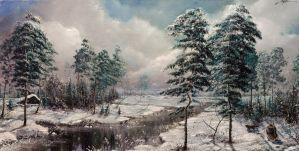 landscape with pines by hitforsa