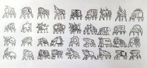 fanmade GD icons - spiders by ekolitex99