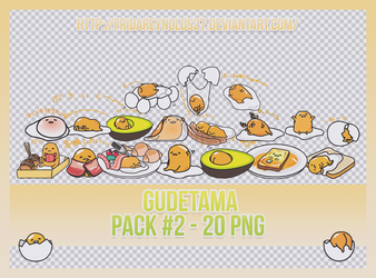 PACK #2 PNG | Gudetama by FridaReynolds27