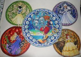 Kingdom Hearts Stained Glass by KHArt08