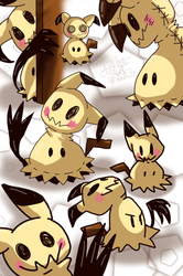 Mimikyu Madness by Y3llowHatMous3