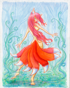 Dance of a Dangerous Eight-Tail (Color) by fredrin