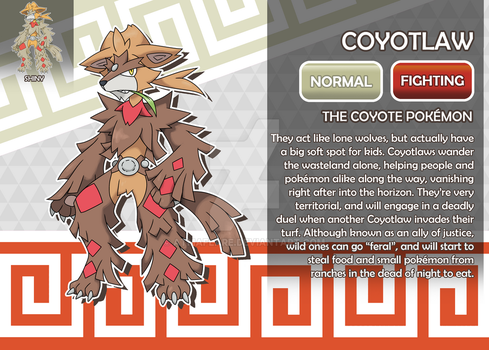 Coyotlaw, the Coyote Fakemon by AtmaFlare