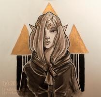 Inktober 3 - Zelda by Ly-s