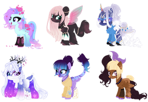 Auction- Mix Ponies(Open) #3 01/06 by GihhBloonde