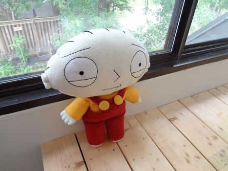 Stewie Griffin Plushie - Steward Griffin Doll by i-am-enrooted