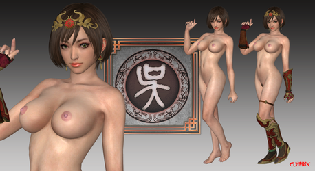 Sun Shangxiang (DW9) Nude Mod For XPS by cunihinx
