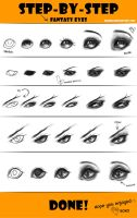 Fantasy Eyes Step by Step Tutorial by Seiorai