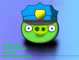 Angry birds: Police Pig by ScapeRune123
