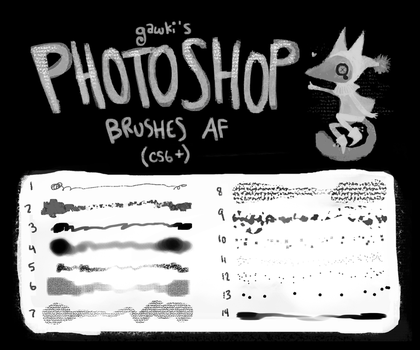 Photoshop Brooshes by gawki