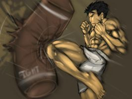 Kick boxer dude by buuzen