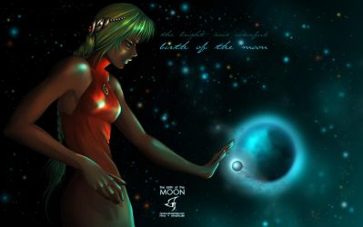 birth of the moon by Nevina