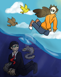 Eel and Bird by iN3RDY