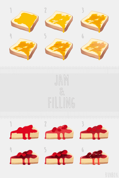 Jam and Filling Tutorial by Bunsiebox