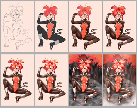 Process of My Painting 2 by sinrin8210