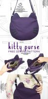 Sewing Tutorial - Kitty Purse by SewDesuNe