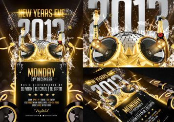 New Years Eve Flyer Template By Angkalimabelas On DeviantArt