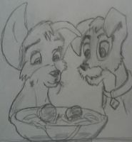 Lady And The Tramp II Angel and Scamp by Raddasuper
