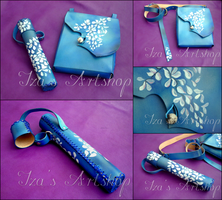Blue Fantasy Leather Set by izasartshop
