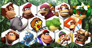 SSB4 DK Series Roster by The-Koopa-of-Troopa