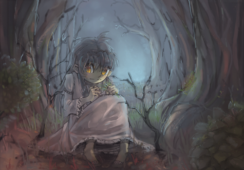 Beillu in a spooky forest somewhere by rumbletree6