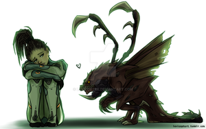 Sarah and her pet zerg by Levicopter