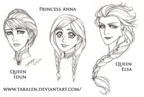 Disney's FROZEN - Face Experiment by Taralen