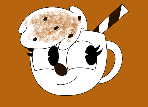 Cuphead OC-Latte Bean by CreativeFoxx13